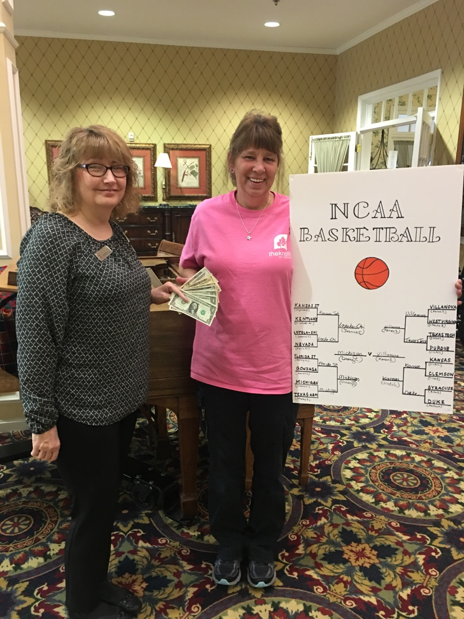 march madness winner karen