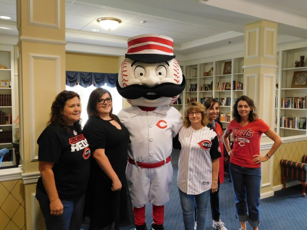 Mr. Redlegs with some of our staff